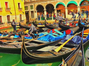 A gondola parking lot:)