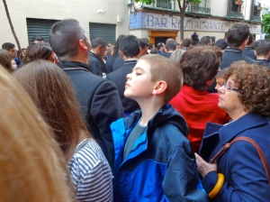 Cute kid watching the processions!