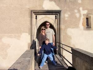 It's pretty fun to stand on a real drawbridge!