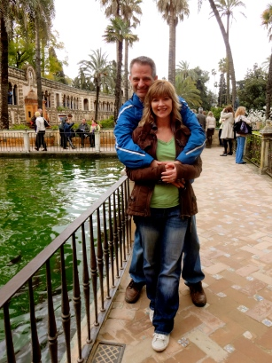 The Alcazar gardens in Seville.