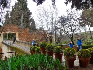 You enter and can stroll through the Alhambra complex until it's your time to enter the Nasrid Palace.