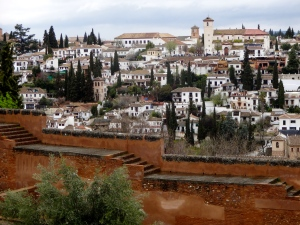 The view from the Alhambra, looking over the Albaicin, the old Moorish Quarter.