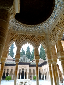The Nasrid sultans were responsible for building most of the palaces in the Alhambra.