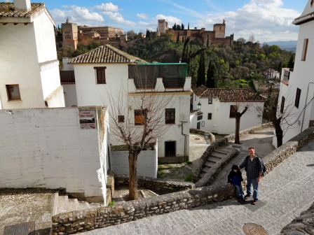 The Albayzin; the Moorish quarter of Granada.  Notice the Alhambra in the background!