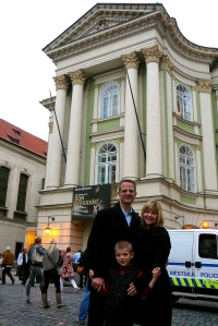 In front of the Estates Theater.