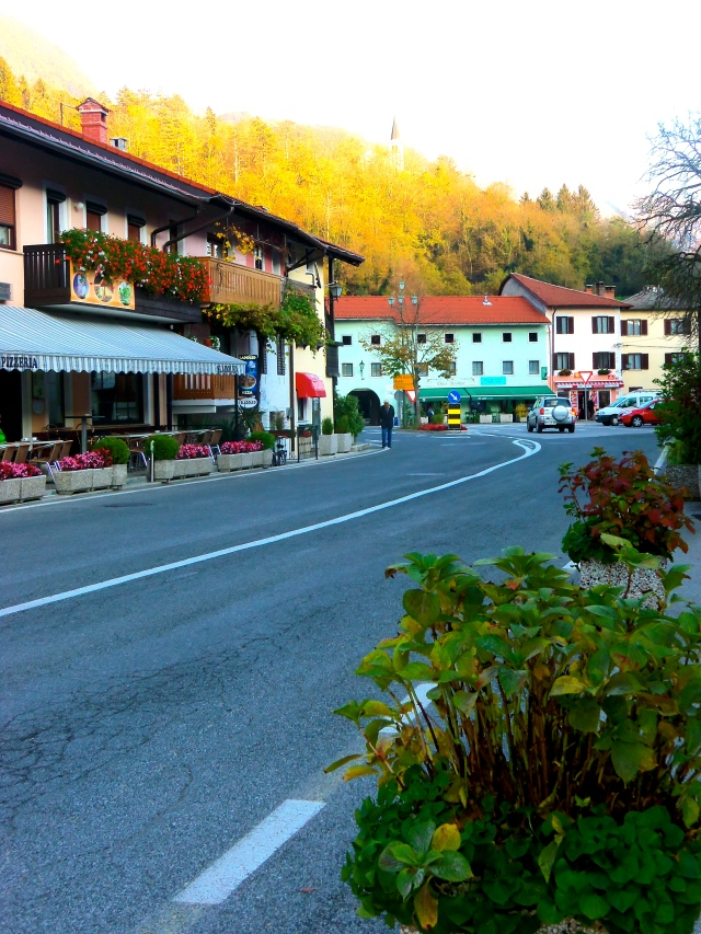The town of Kobarid, the setting for Hemingway's Farewell to Arms.