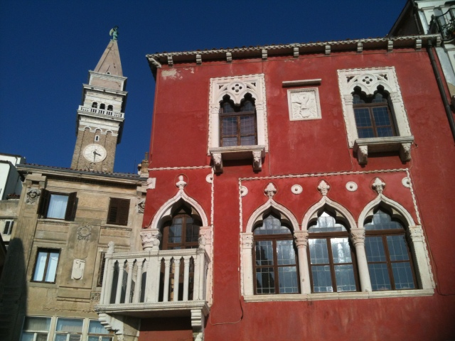 The architecture is similar to what you find in Venice.