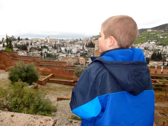 It was fun exploring the Alhambra, but we got drenched at the end!