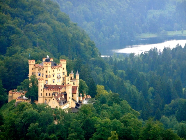 Here's Howenschwangau Castle, where crazy King Ludwig lived as a boy.  Not a bad place to grow up!
