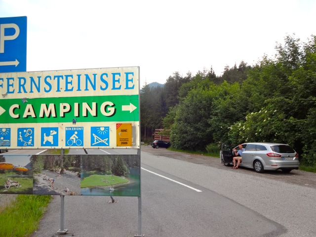 We stopped here to snap a few quick photos.  Notice the camping photos at the