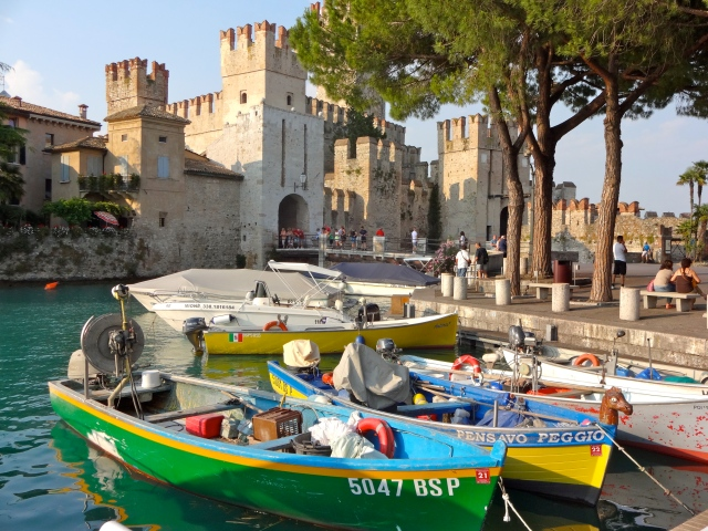 The town of Sirmione, Lake Garda.