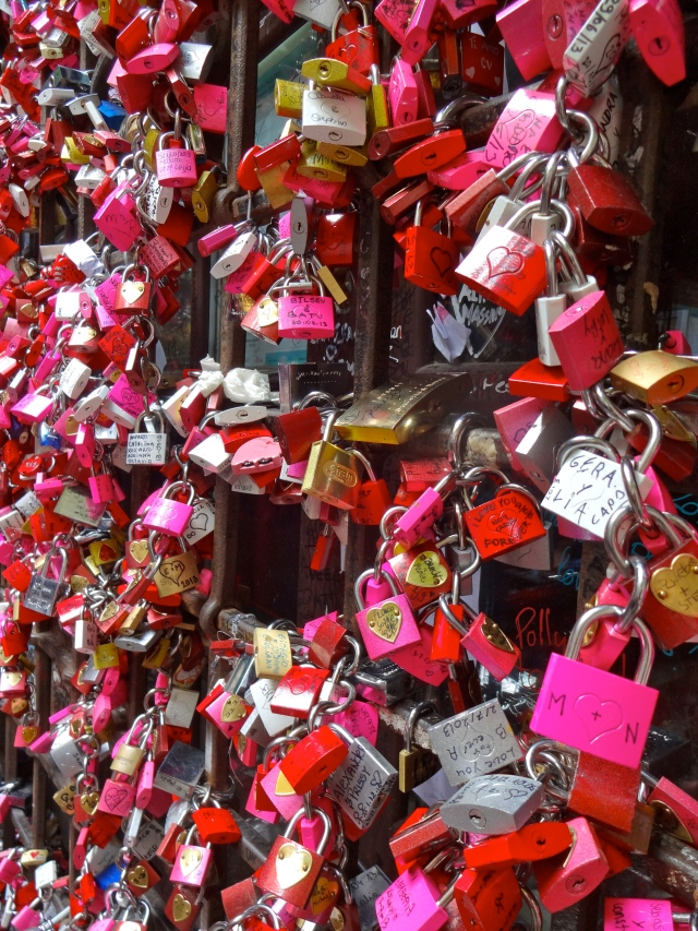 Couples add these locks as a symbol of their undying love...