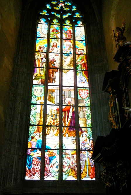 The stained glass windows are stunning!