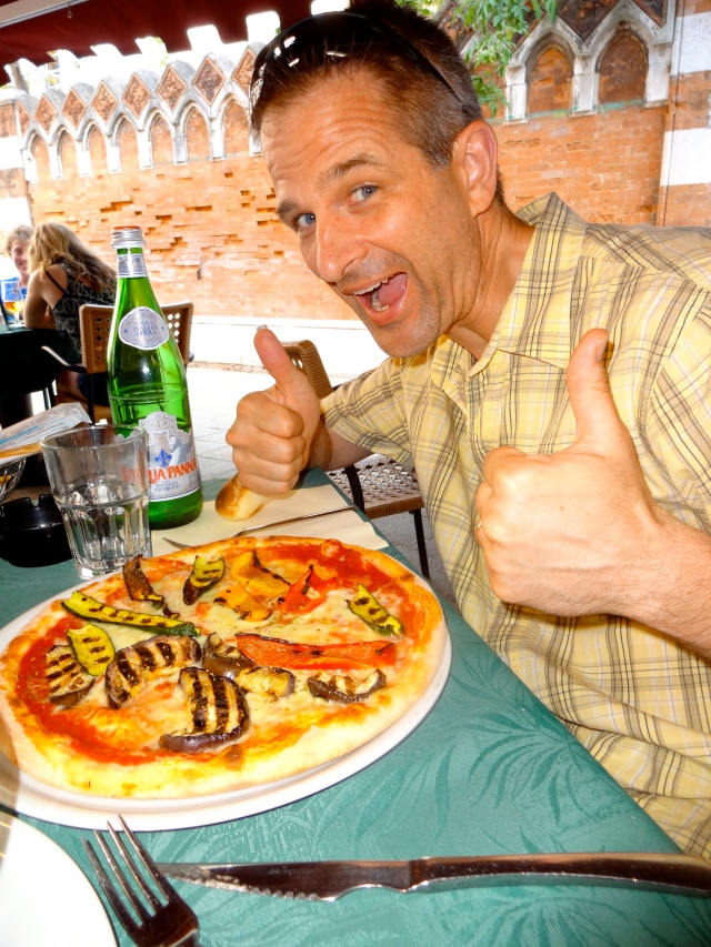 When in Italy one MUST eat pizza!