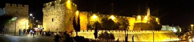 Jerusalem at night.