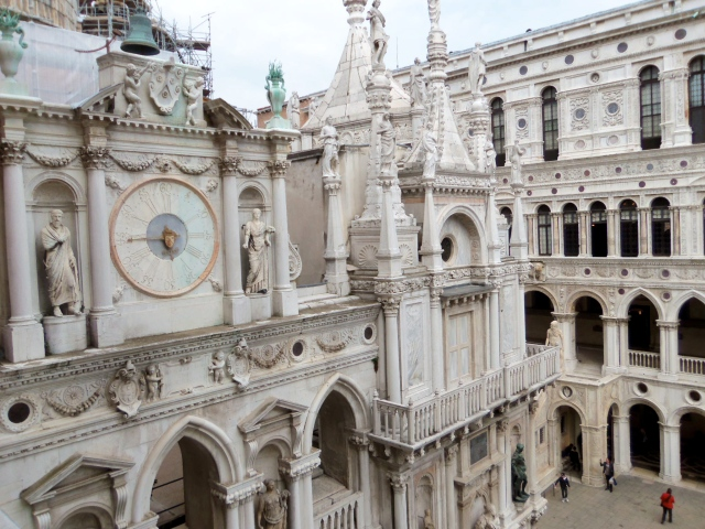 Inside the courtyard of the Doge's Palace.