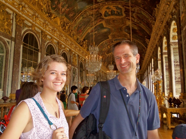 Andy and our daughter, Samantha, at Versailles, Summer 2012
