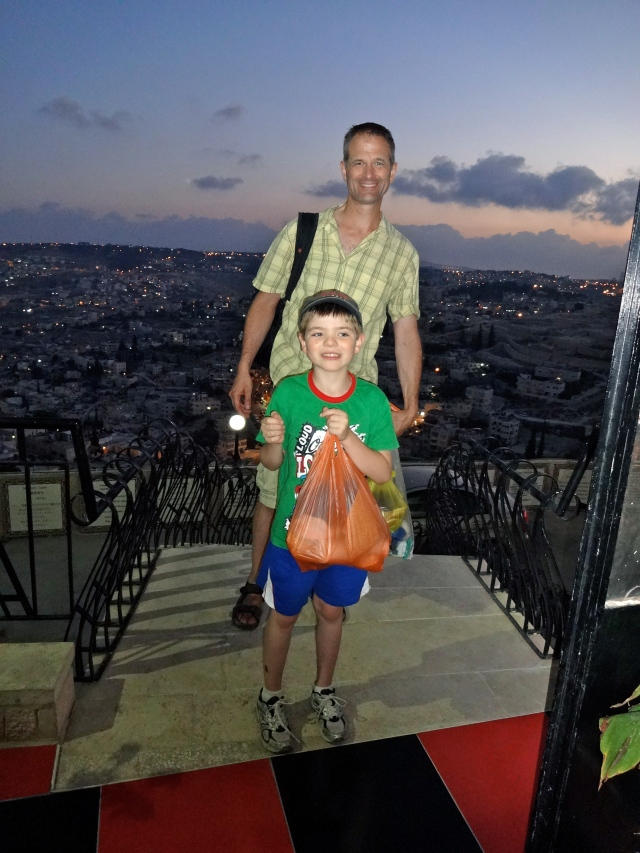 Andy and Nate on the Mount of Olives, Jerusalem, summer 2013