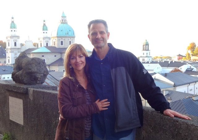 Andy and Nicole in Salzburg, October 2013