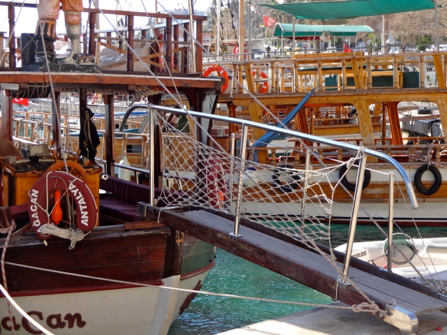 Rows of pirate boats