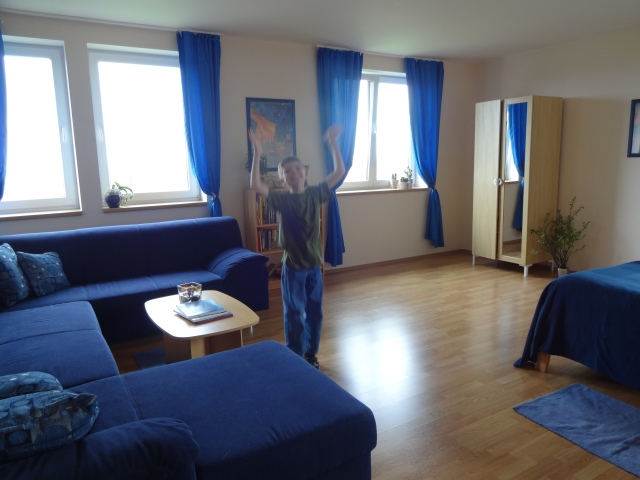 Now the blue sofa is in the Riverside Boys' Dormitory!