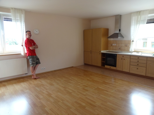 Good-bye living room and kitchen!