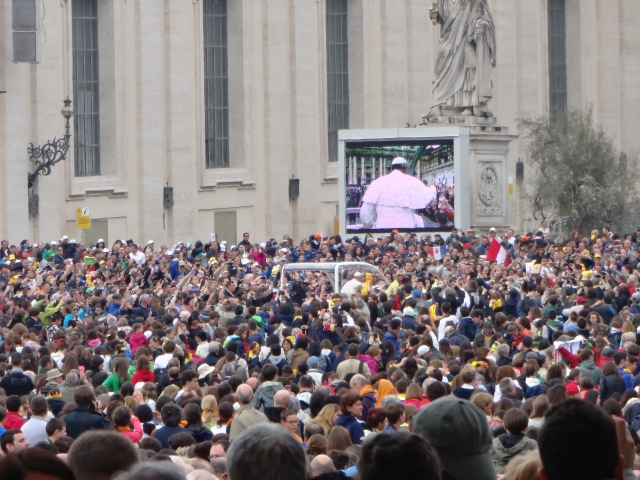 We even got to see the Pope!