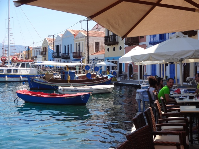 There are lots of little restaurant around the small harbor.