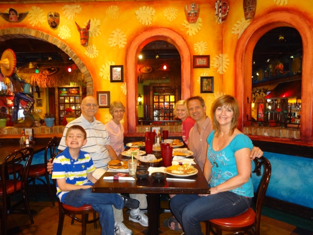 We went out for Mexican food for my birthday!